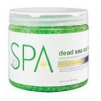Bain au sel de la mer morte Citronnelle et Thé Vert